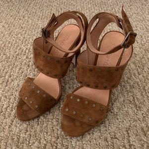 Madewell Suede Studded Heels